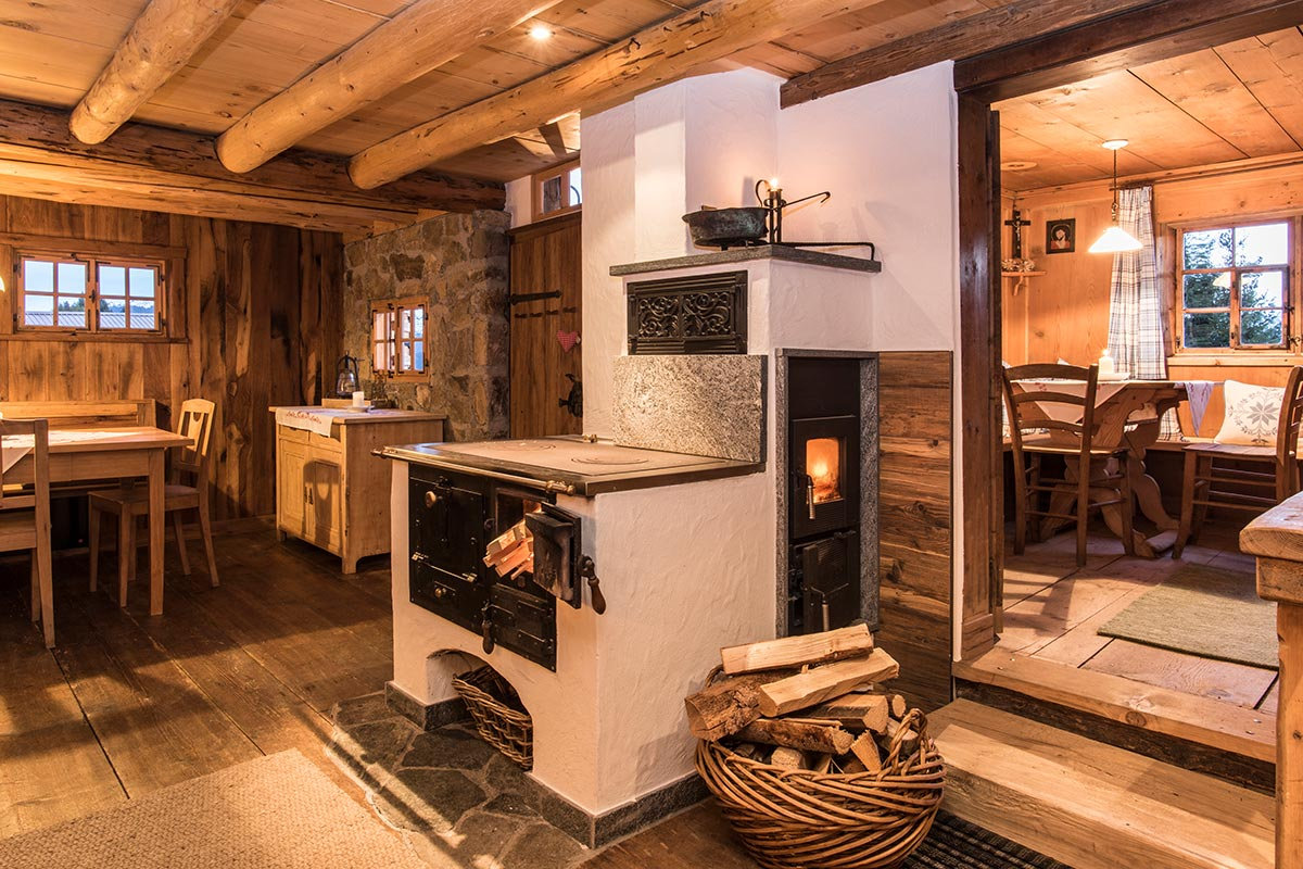 Mountain lodge Bartholomäberg in the Montafon - wood stove