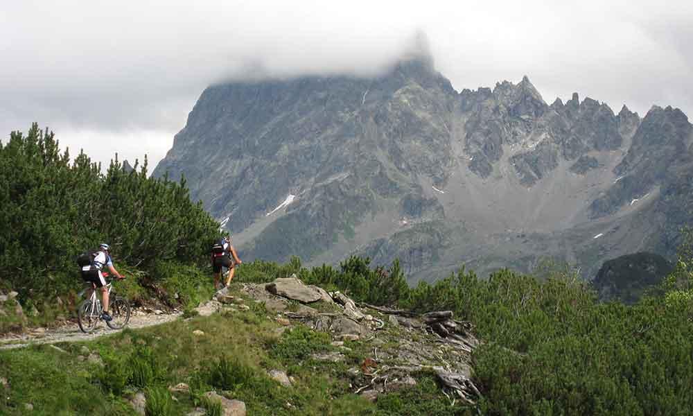 Mountain biking Montafon