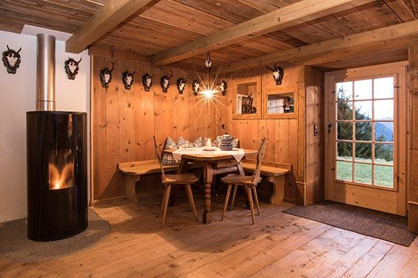 Mountain lodge Bartholomäberg in the Montafon - living