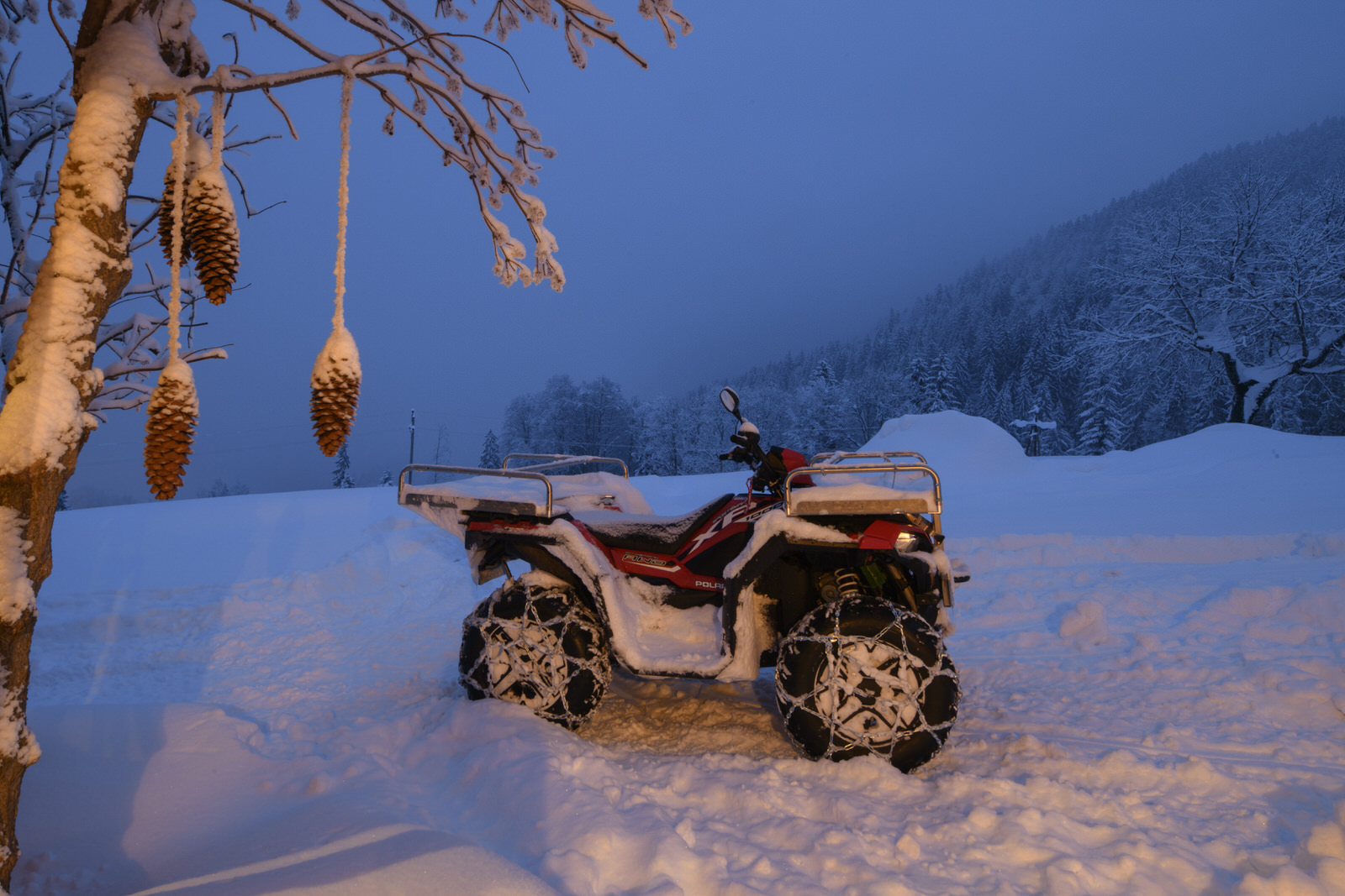 Exclusive mountain lodge Gauertal Montafon - quad bike
