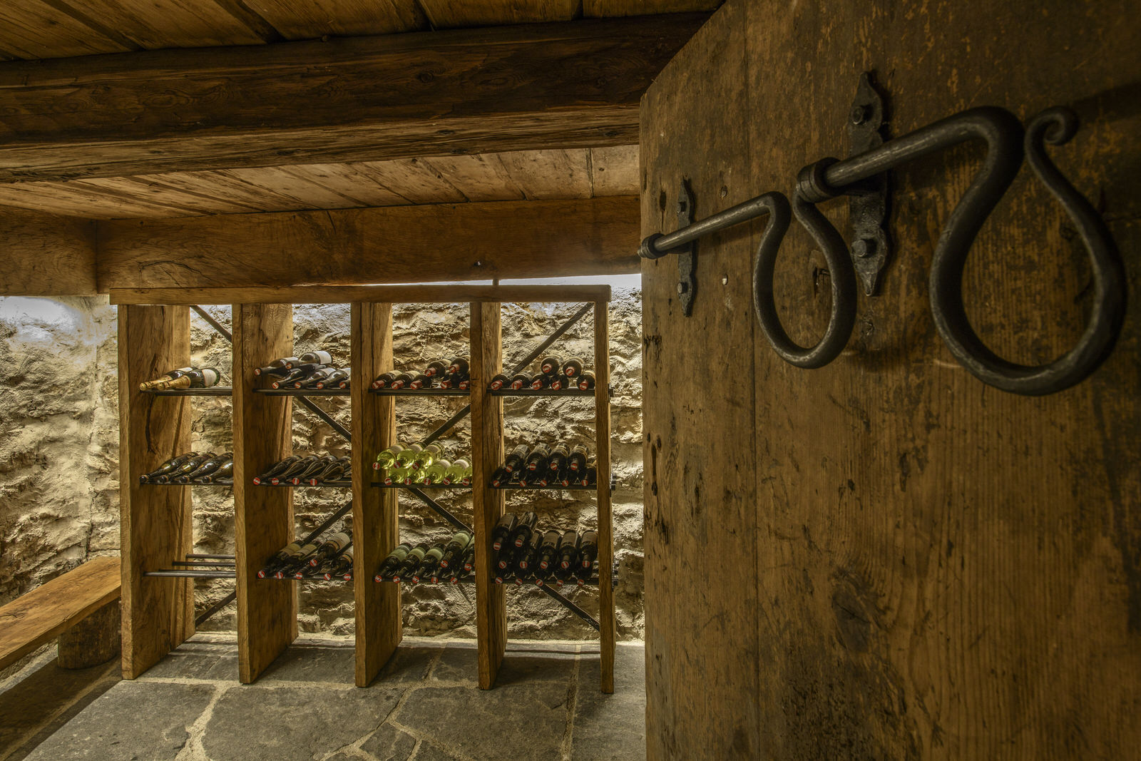 Mountain lodge Bartholomäberg in the Montafon - wine cellar
