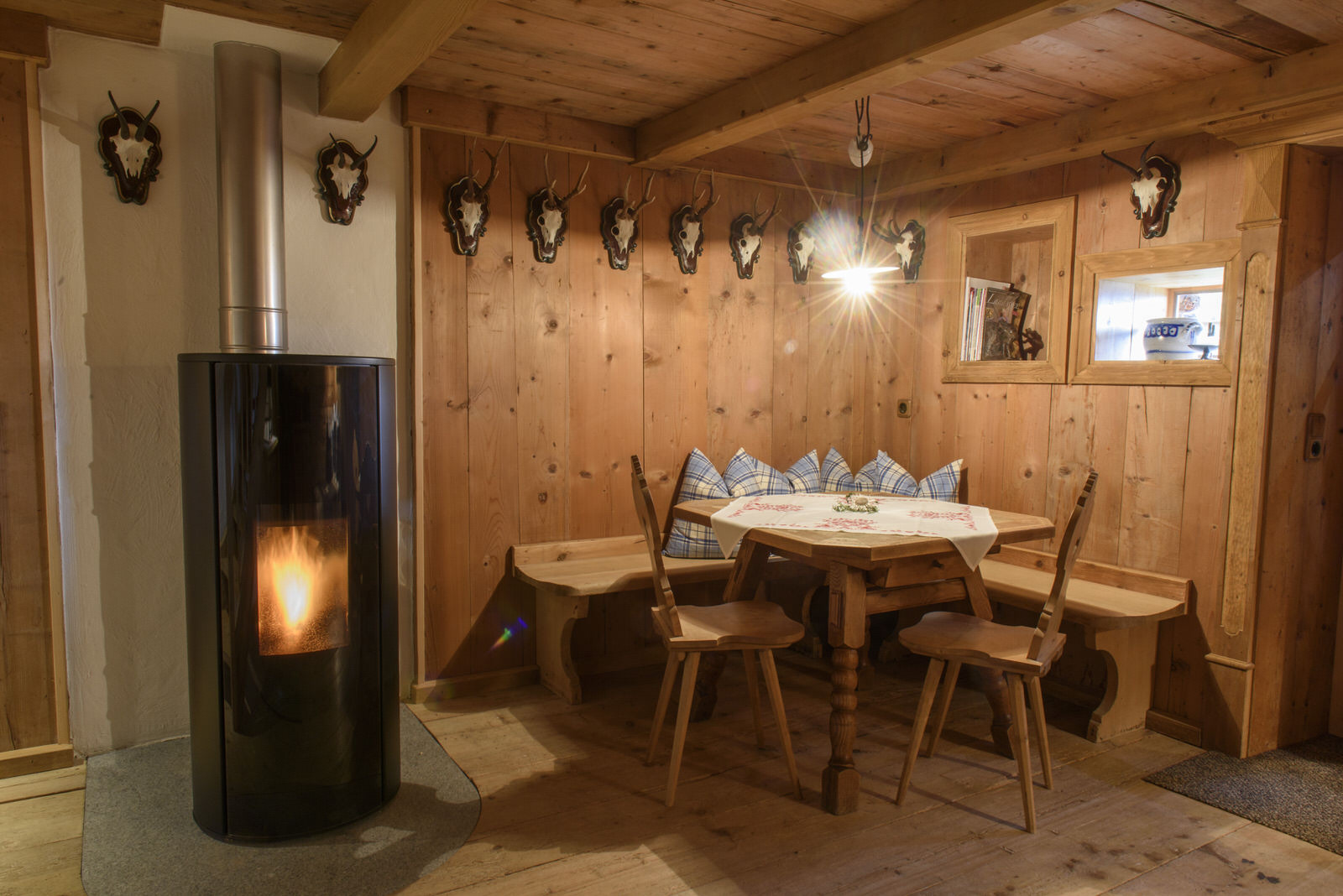 Mountain lodge Bartholomäberg in the Montafon - pellet stove