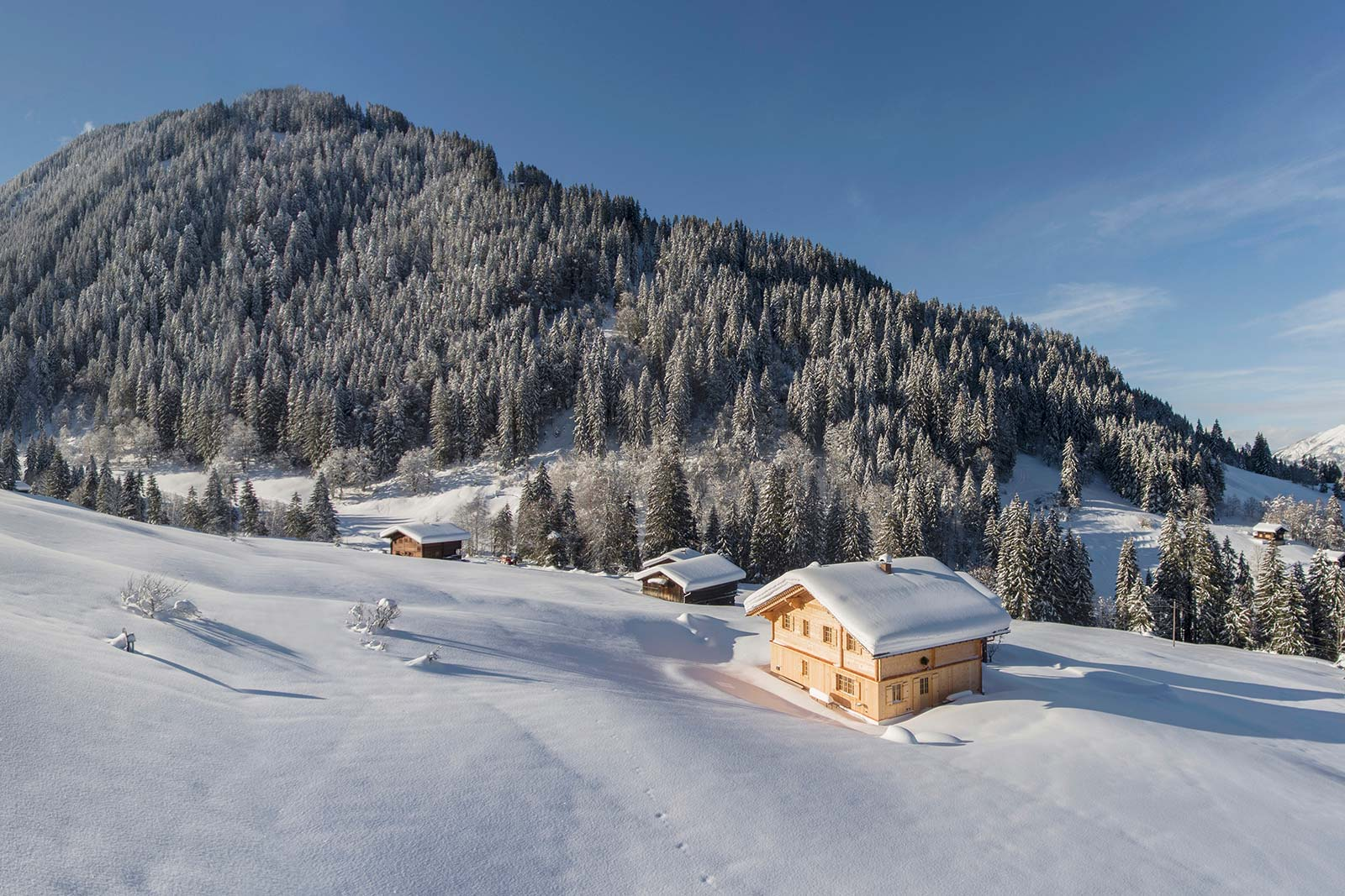 Exclusive mountain lodge Gauertal winter