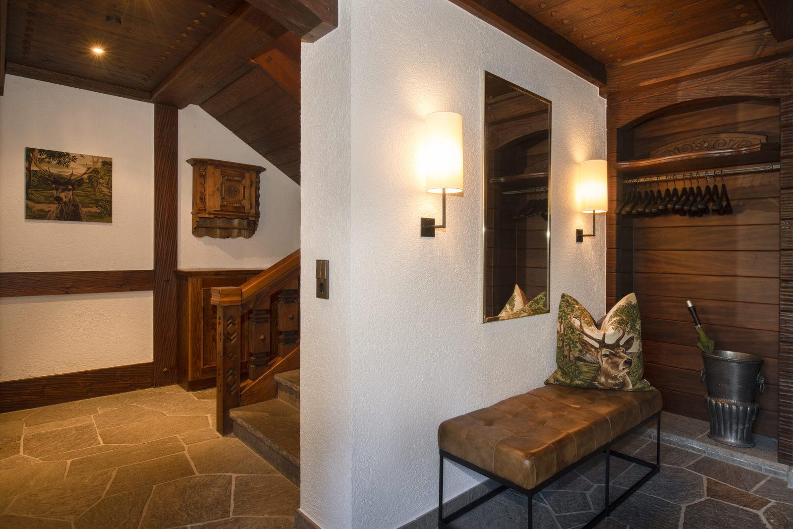 Rappakopf Forrest house in the Montafon - entrance corridor
