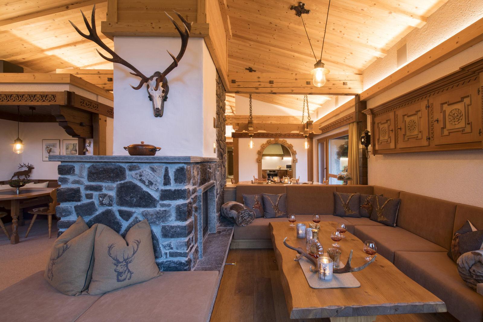 Rappakopf Forrest house in the Montafon - open fireplace