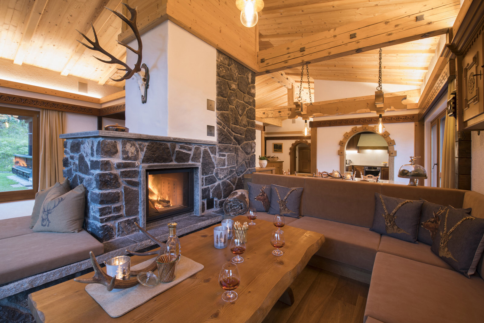 Rappakopf Forrest house in the Montafon - living