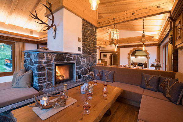 The Rappakopf Forrest house in the Montafon - living