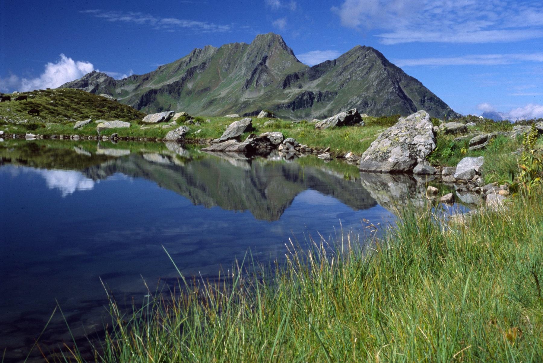 Altes Schulhaus Hochjoch vom Gritscher See