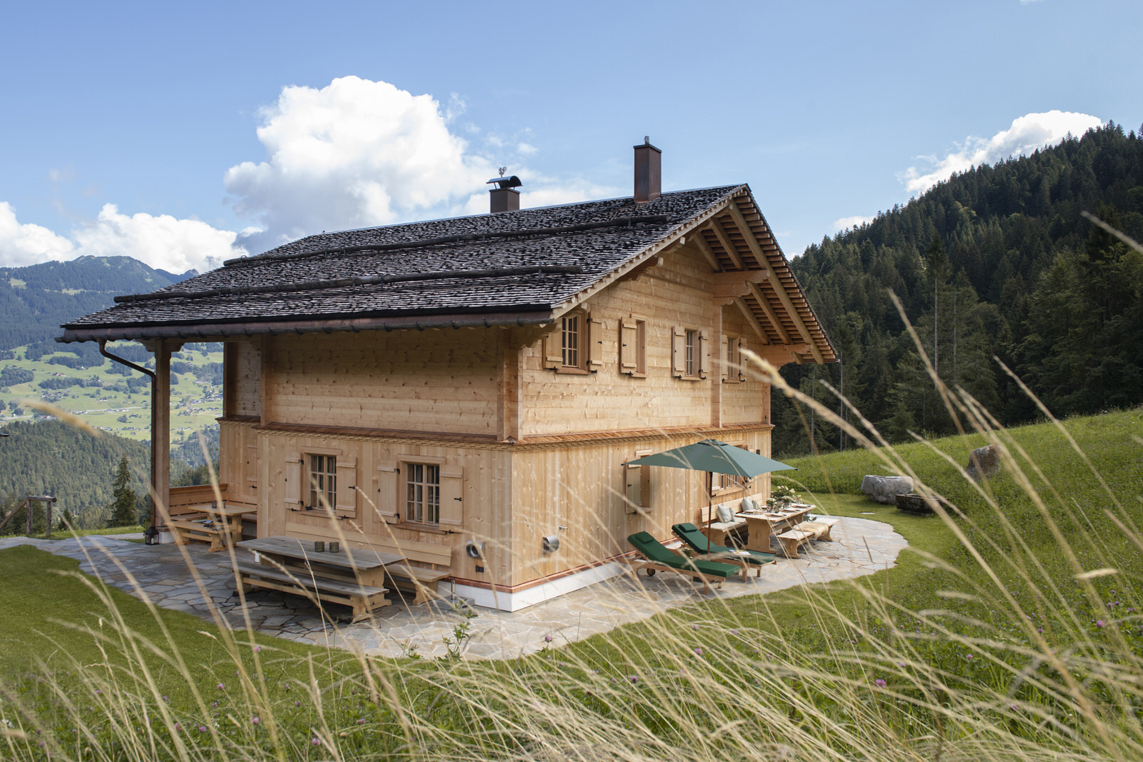 Exclusive mountain lodge Gauertal Montafon - view