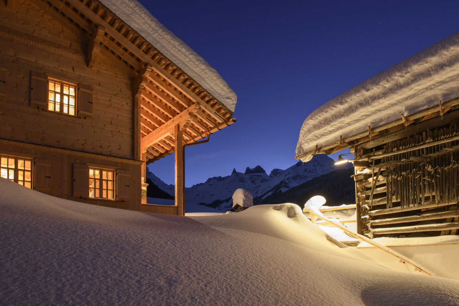 Exclusive mountain lodge Gauertal Montafon winter