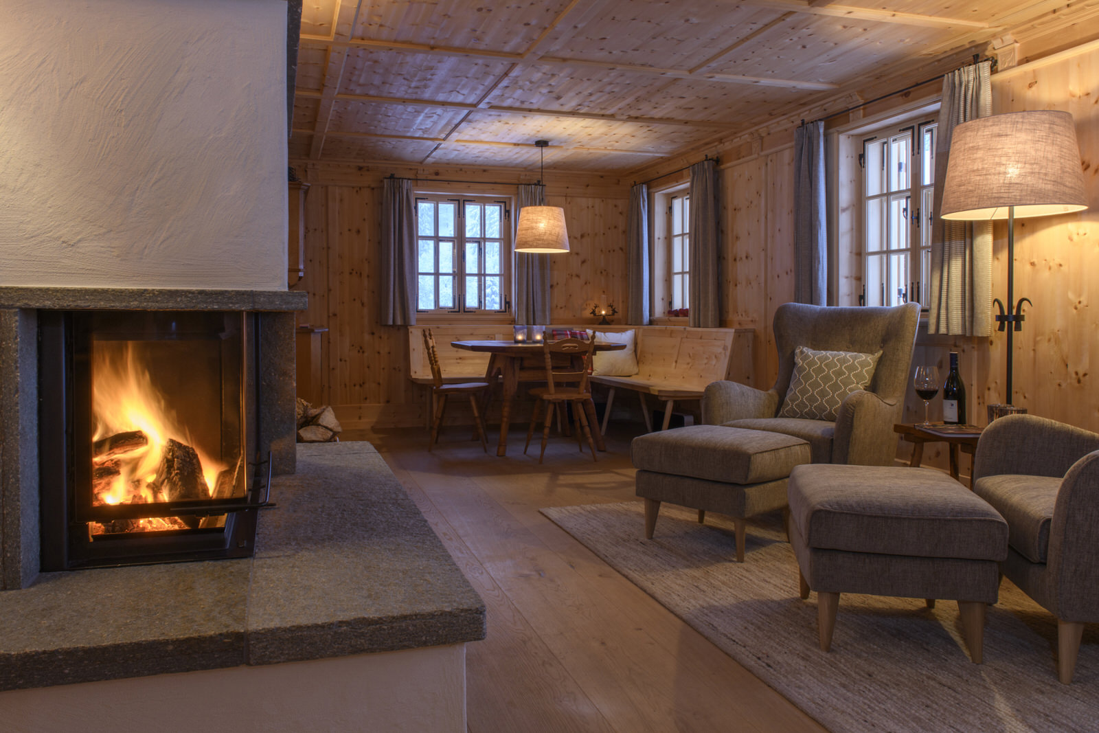 Exclusive mountain lodge Gauertal Montafon - living
