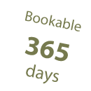 Bookable 365 days
