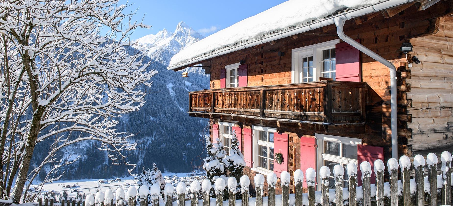 Altes Schulhaus Schruns Montafon Winter