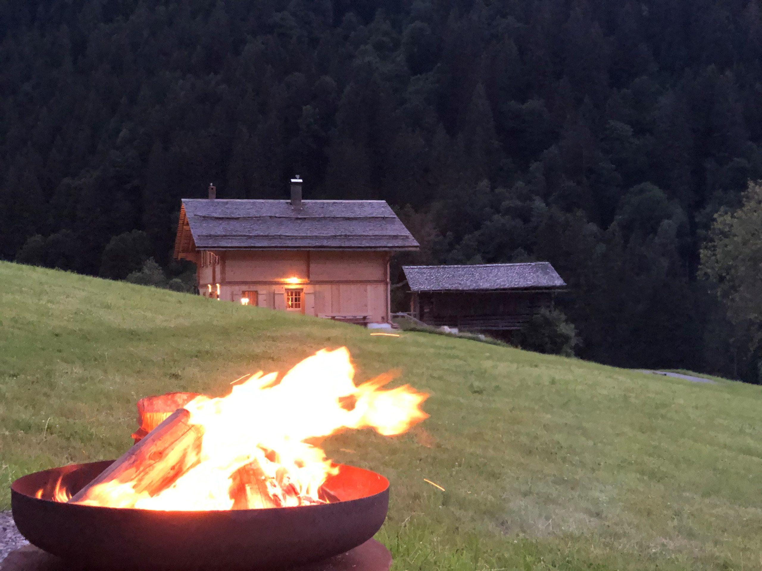 Berghaus Gauertal vom Grillplatz aus 2020